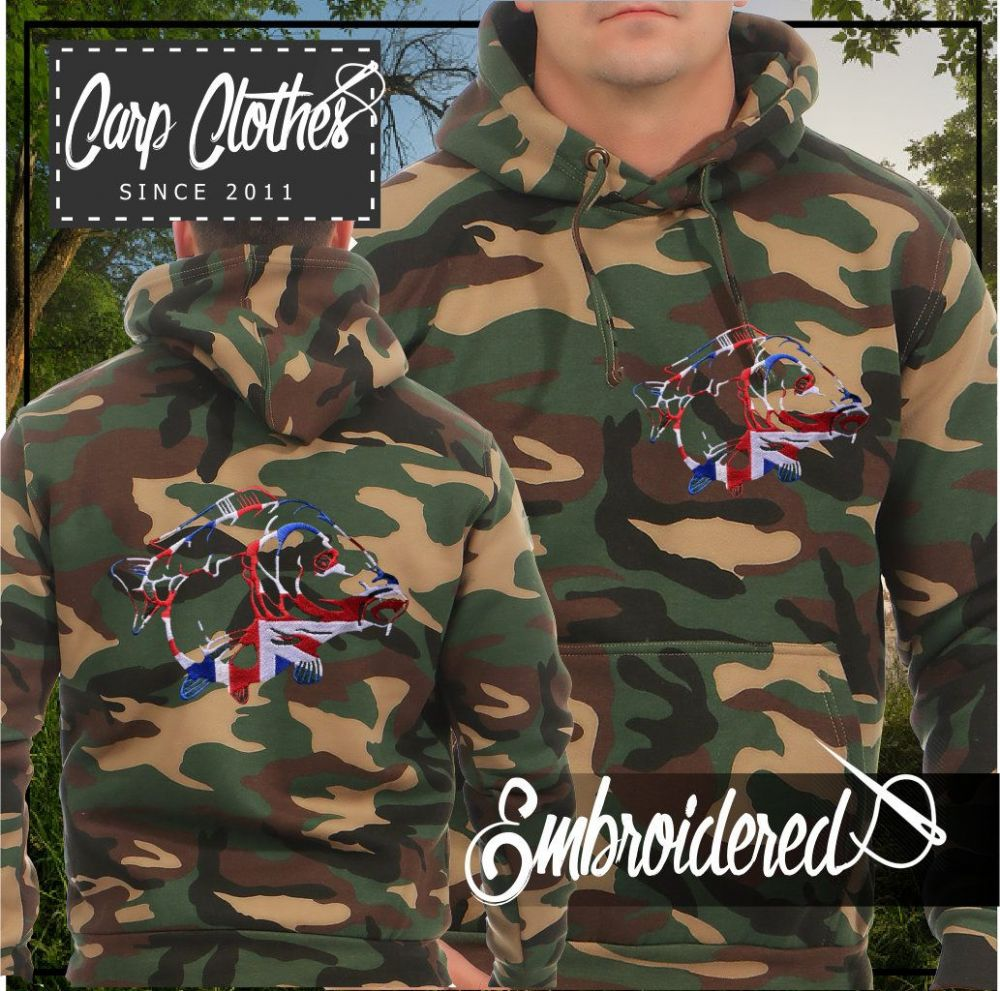 034 EMBROIDERED CAMO FISHING HOODIE